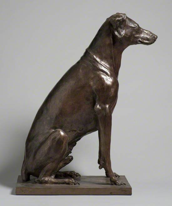 Seated Dog Named Herkomer