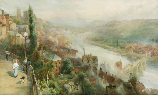 Bridgnorth, Shropshire, from Castle Walk