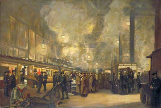 Charing Cross Station: Detraining Wounded by the British Red Cross Society and Order of St John
