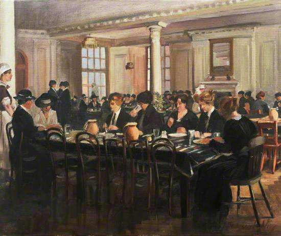 The Canteen at the Headquarters of the Joint War Council of the British Red Cross Society and Order of St John, 19 Berkeley Street, W1