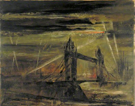 A Flying Bomb over Tower Bridge