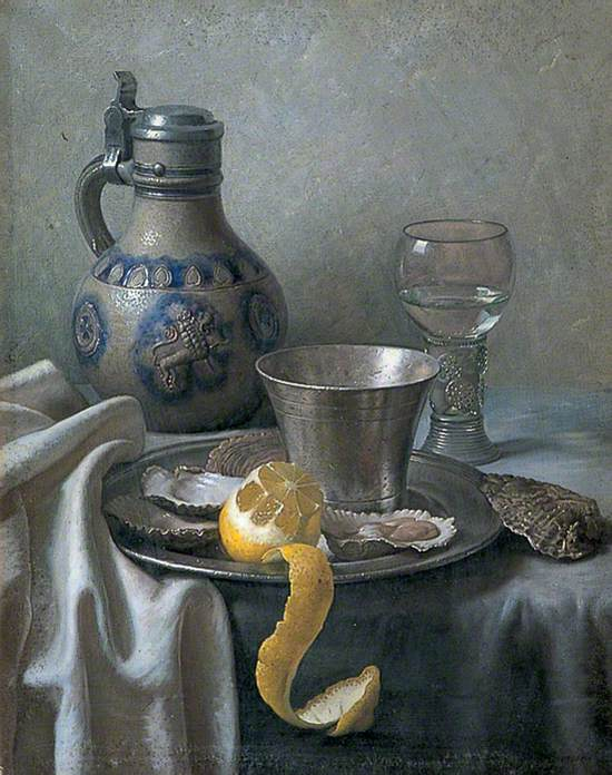Still Life of Tankard and Oysters