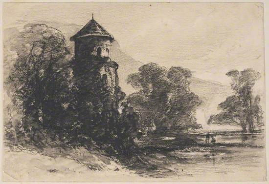 Landscape with Round Tower