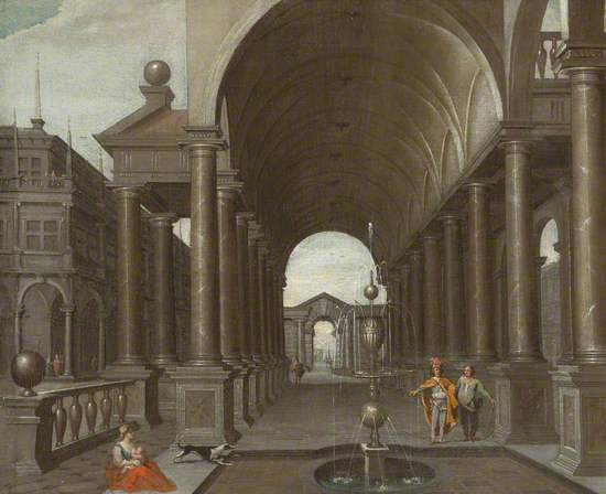 Fountain in the Courtyard of a Palace