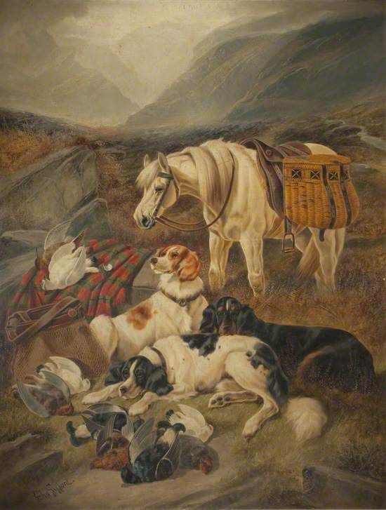 Pack Horse and Dogs