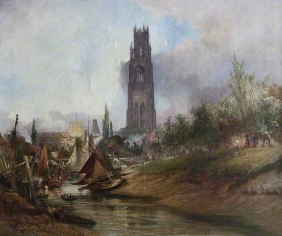 St Botolph's from the Witham, Boston, Lincolnshire