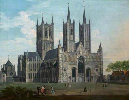 A View of Lincoln Cathedral from the West