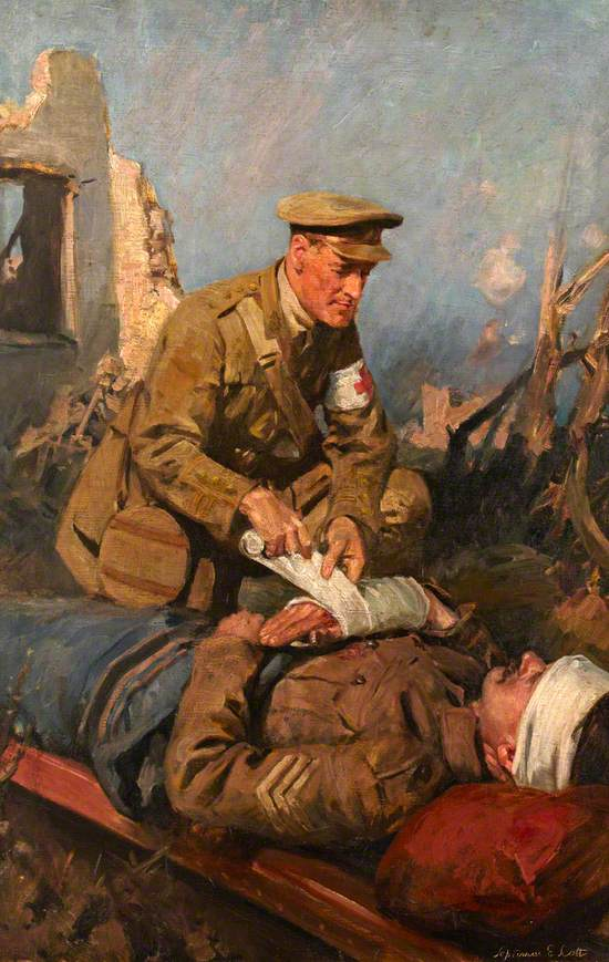 Medical Officer Attending the Wounded