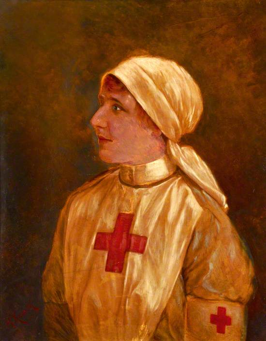 Miss Hedvica M. Shlehover in British Red Cross Voluntary Aid Detachment Uniform