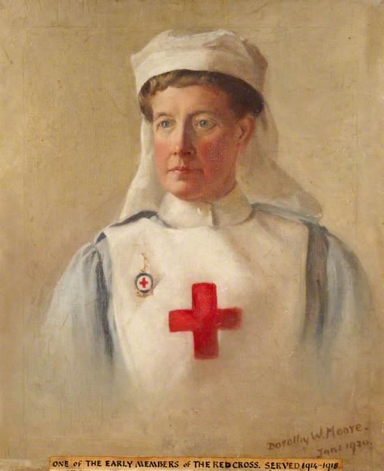 Miss Moore in British Red Cross Voluntary Aid Detachment Uniform