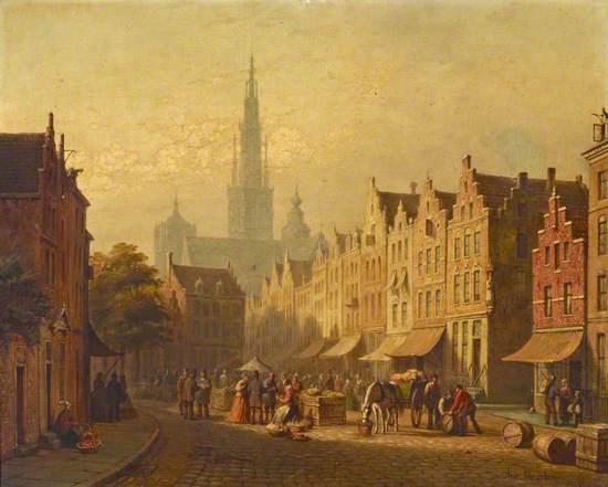 A Dutch Town Scene