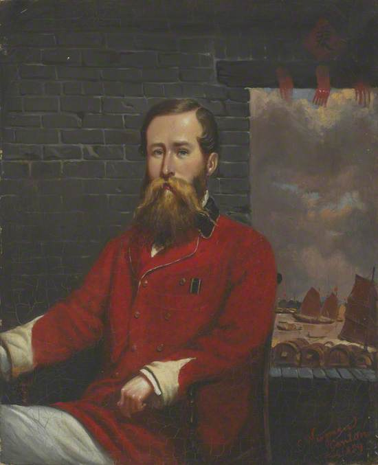 Captain (later Lieutenant Colonel) Robert Coney Whiting (1825–1886), 70th Bengal Native Infantry, Canton