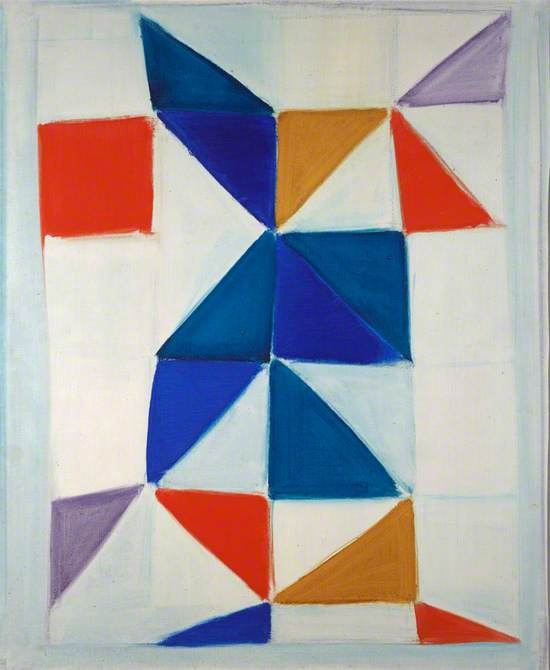 White Painting (With Red, Blue, Violet and Ochre)