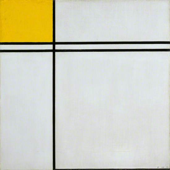Composition with Double Line and Yellow