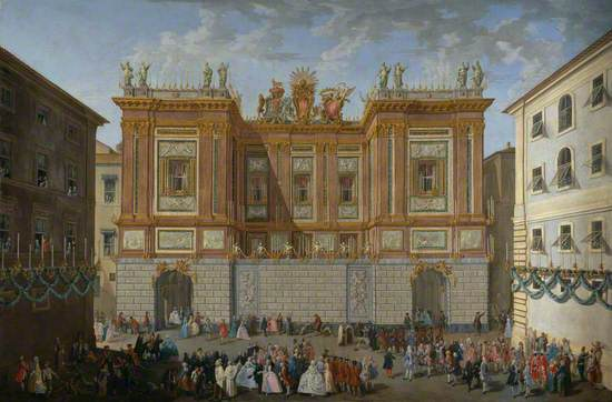 Prince James Receiving his Son, Prince Henry, in Front of the Palazzo del Re