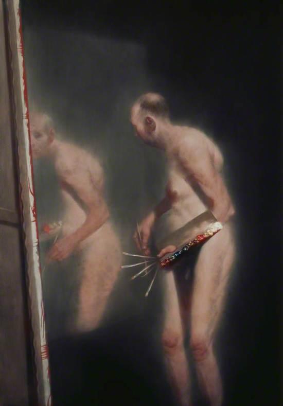 Unfamiliar Reflection: Self Portrait by Ken Currie (b.1960)