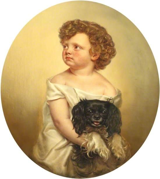 Child and Dog, 'Mug Won't Beg'