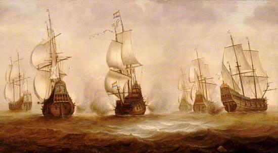 Witte de With's Action with Dunkirkers off Nieuwpoort, 1640