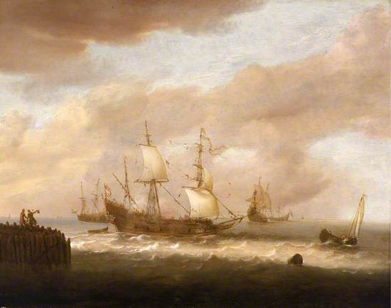 The Departure of an East Indiaman