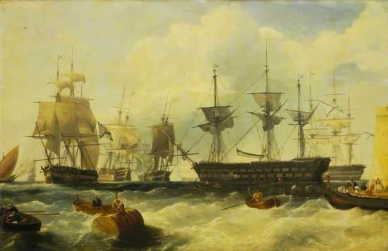 Russian Squadron at Malta, 20 October 1827