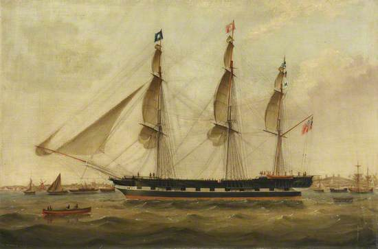 A Ship Getting Under Way, with Troops on Board
