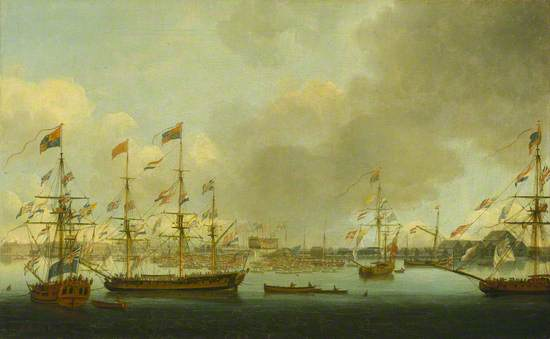Launch of HMS 'Alexander' at Deptford in 1778