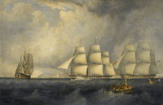 The 'Vernon' and Other Vessels (HM Ships 'Edinburgh' and 'Blenheim')