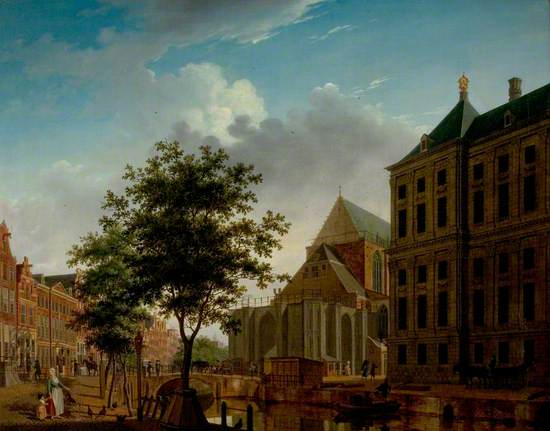 Back of Nieuwe Kerk and Town Hall, Amsterdam, Holland