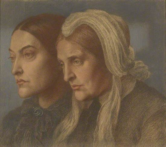 Christina Rossetti and Frances Mary Lavinia Rossetti, née Polidori