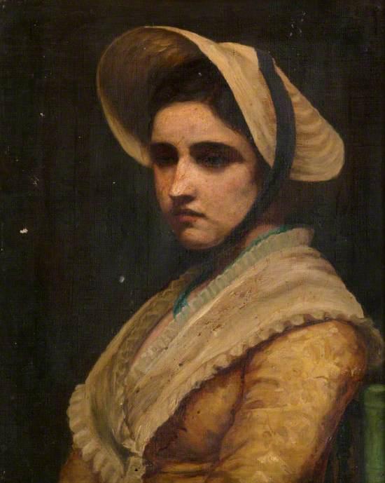 Portrait of a Lady Wearing a Bonnet