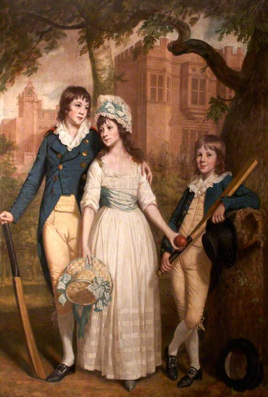 William, Mary Ann, and John De la Pole as Children (Sir William Templer Pole, 1782–1847, 7th Bt, Mary Ann Pole, b.1783, and John George Pole, 1787–1803)