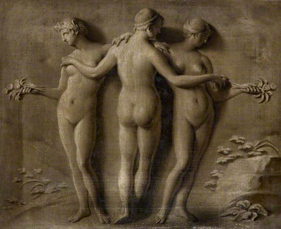 Simulated Relief of the Three Graces