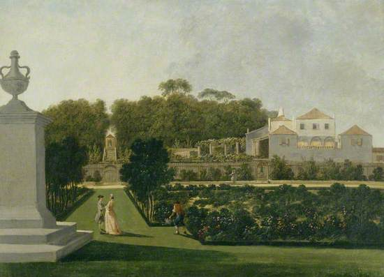 A Garden Scene at an Anglo-Portuguese Quinta (Bemfica?)