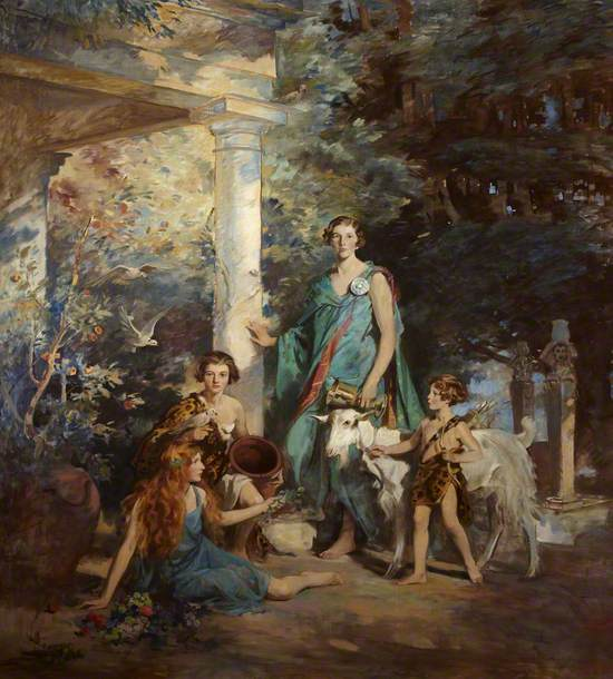 'Circe and the Sirens': A Group Portrait of the Honourable Edith Chaplin (1878–1959), Marchioness of Londonderry, and Her Three Youngest Daughters, Lady Margaret Frances Anne Vane-Tempest-Stewart (1910–1966), Lady Helen Maglona Vane-Tempest-Stewart (1911–1986), and Lady Mairi Elizabeth Vane-Tempest-Stewart (1921–2009), Later Viscountess Bury