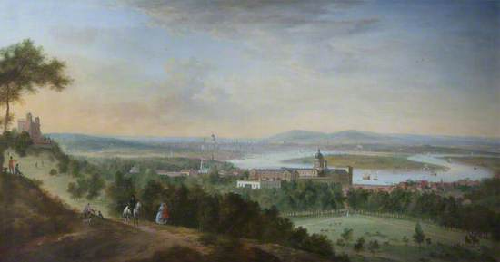 Panoramic View of Greenwich, the Thames, and London, from the East (One Tree Hill)