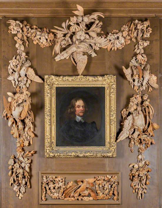 Carved Limewood Overmantel with Flowers, Fruit, Foliage and Gamebirds