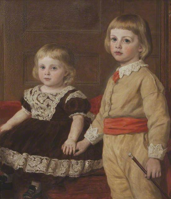 Stephen Langton Massingberd (1869–1925), and His Sister, Mary Langton Massingberd (1871–1950), Later Mrs Hugh Maude de Fellenburg Montgomery, as Children