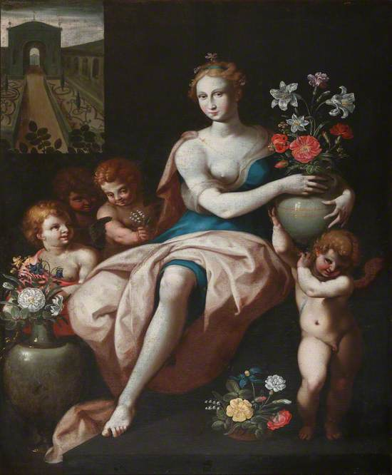 Flora with Putti