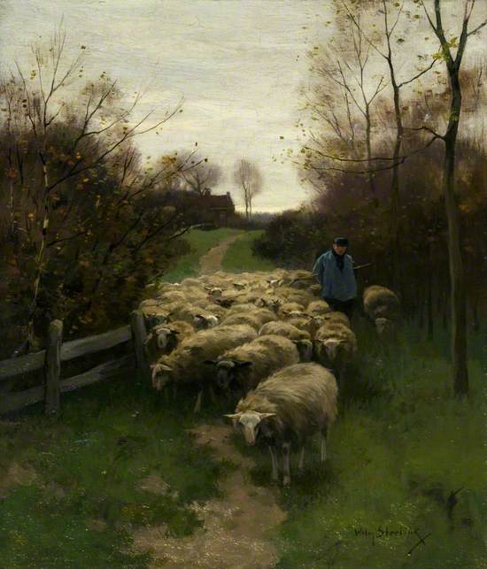 The Shepherd with his Flock