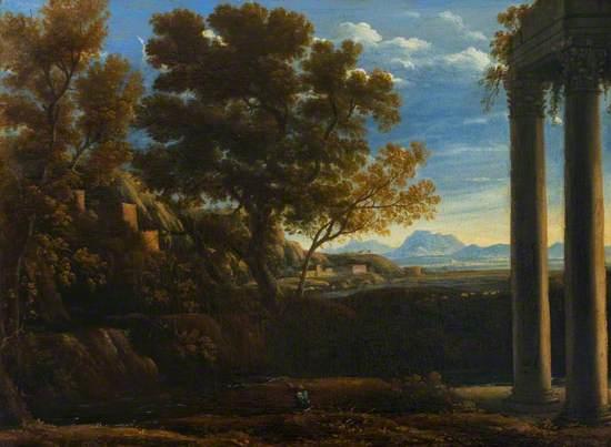 Italianate Landscape with a Ruined Temple