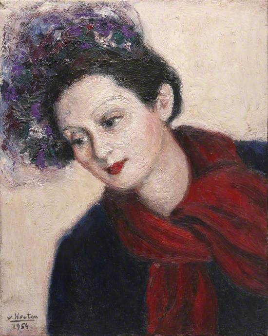 Portrait of a Lady in a Red Scarf