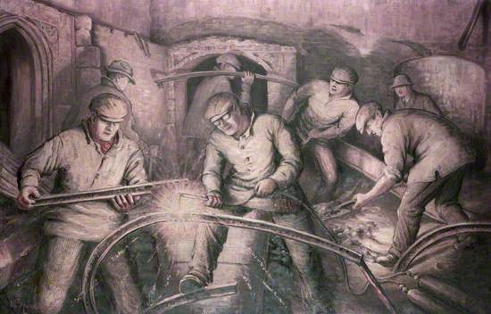 The Cutting and Removing of 380 Tons of Iron from the Houses of Parliament