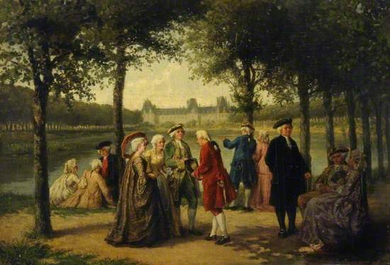 A Promenade at a Chateau in the Time of Louis XV