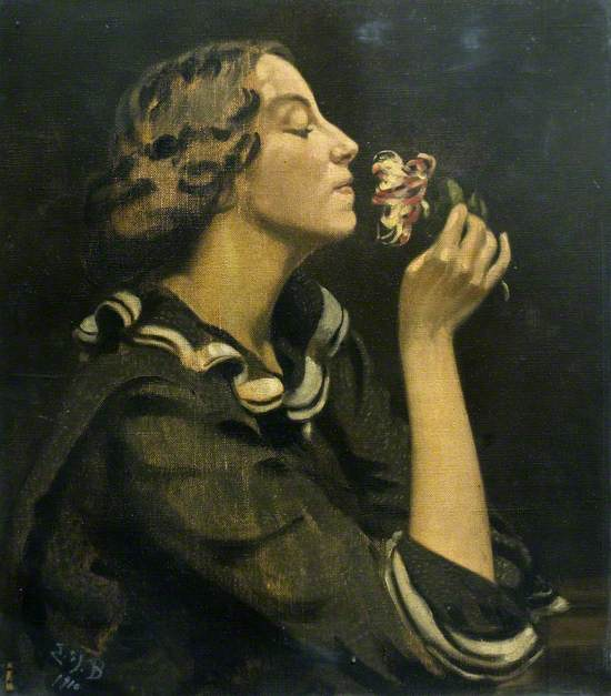 Lady with Honeysuckle