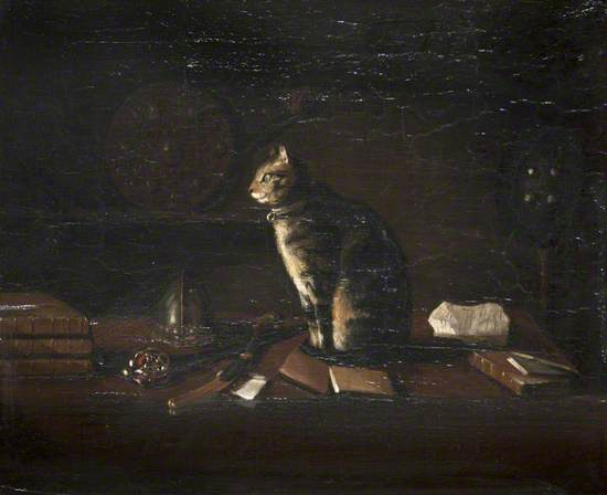 Sir Walter Scott's Cat 'Hinse of Hinsefeldt' in the Armoury