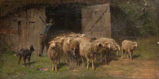 Landscape with a Shepherd and Sheep