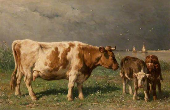 Landscape with Cow and Calves