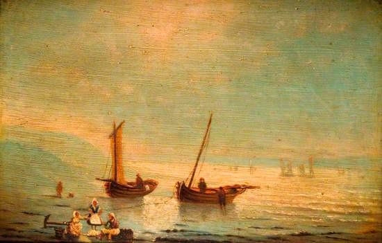 Fishing Boats and a Group of Women