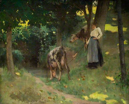 Girl with Two Cows