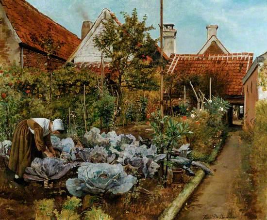 A Flemish Kitchen Garden: La coupeuse des choux
